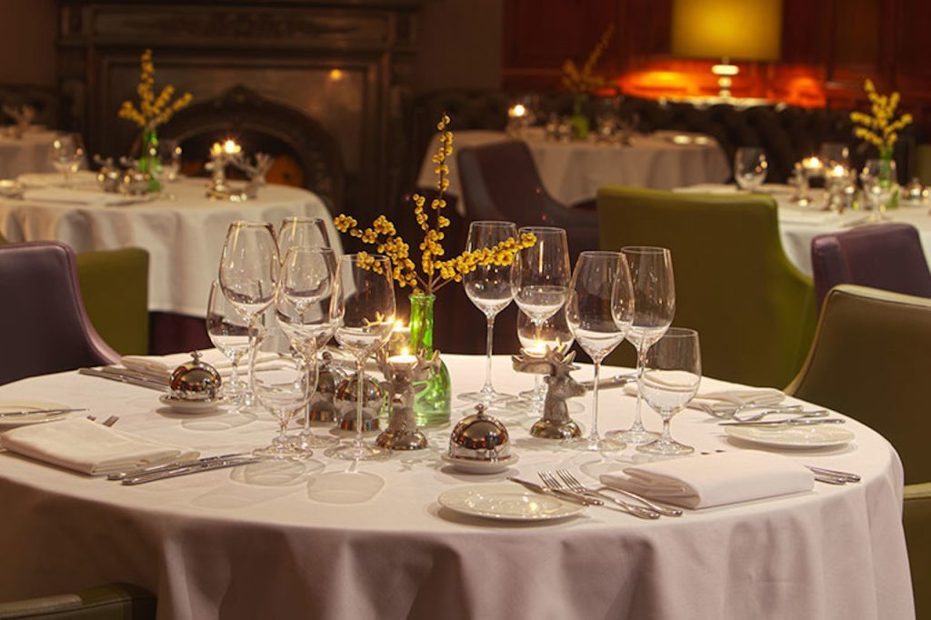 fine dining during luxury fly fishing holiday in scotland