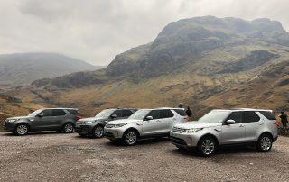 Luxury Transport vehicles used for fishing holiday in scotland